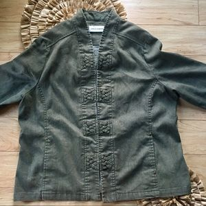 3 For $25 Moss Green Jacket Alfred Dunner Size 18